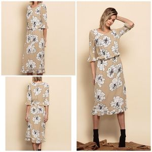 Lucca Floral Verona Ruffle Vintage Inspired Dress